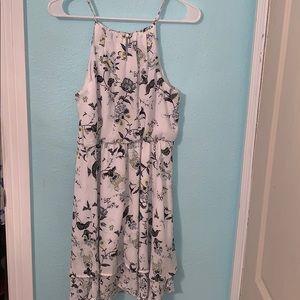 Francesca's White floral dress